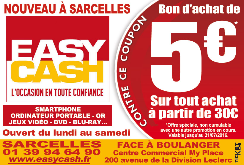 Bon de r duction easy cash sarcelles sarcelles 95200 bon de r duction d p t vente - Coupon de reduction office depot ...
